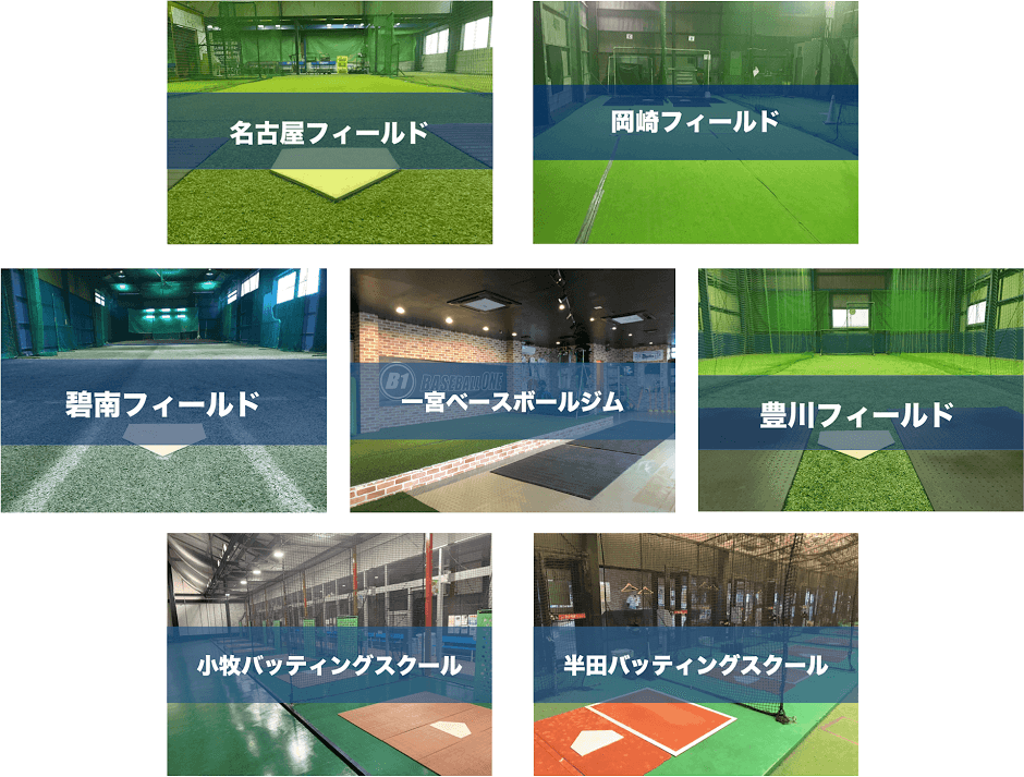 ベースボールワン全7店舗写真