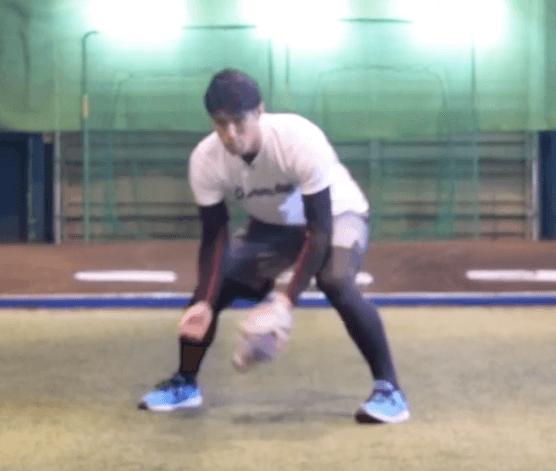 左側の打球
